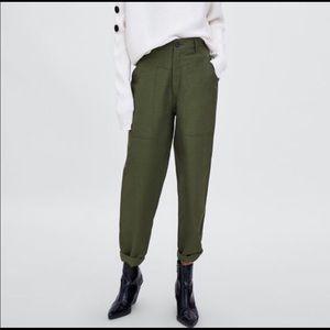 Zara cargo military pants